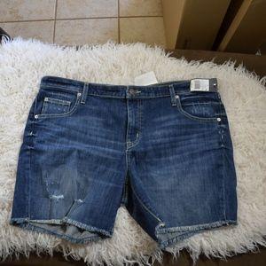 mossimo boyfriend jean shorts plus size 18